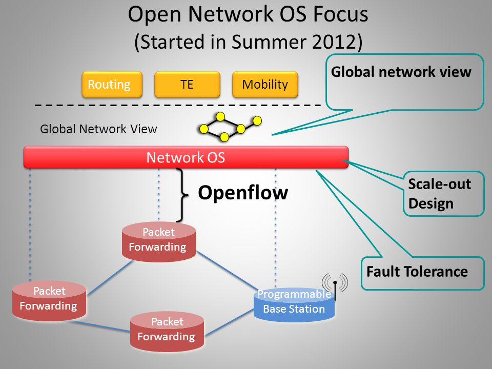 Routing TE Network OS Packet Forwarding Packet Forwarding Packet Forwarding Packet Forwarding Packet Forwarding Packet Forwarding Mobility Programmabl
