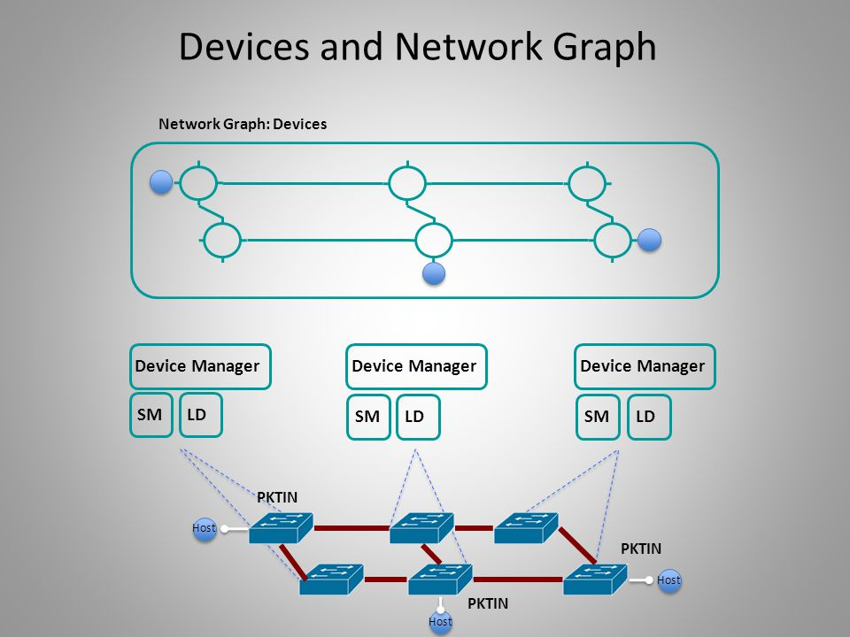Network Graph: Devices SM LD Device Manager PKTIN Host Devices and Network Graph