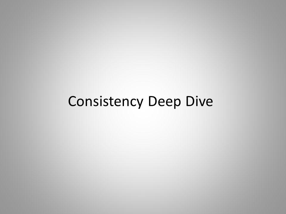 Consistency Deep Dive