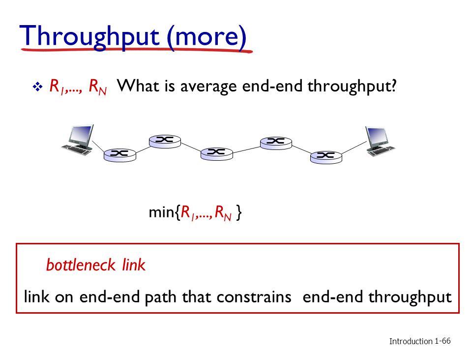 Introduction Throughput (more)  R 1,..., R N What is average end-end throughput.