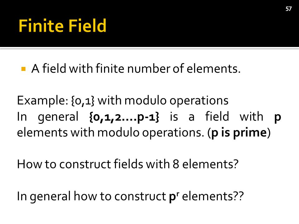  A field with finite number of elements.
