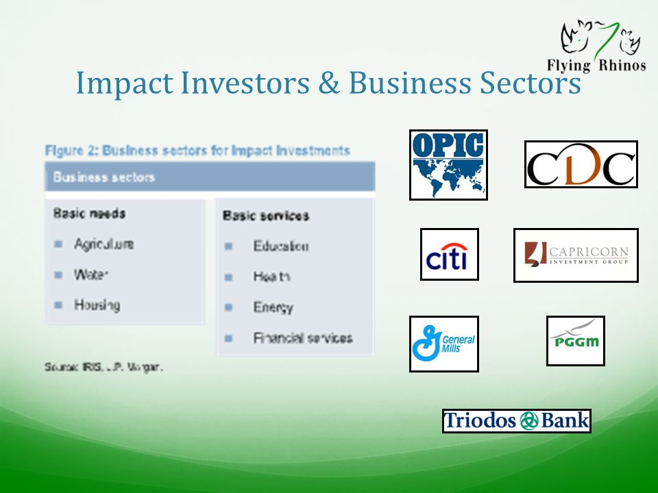 Impact Investors & Business Sectors