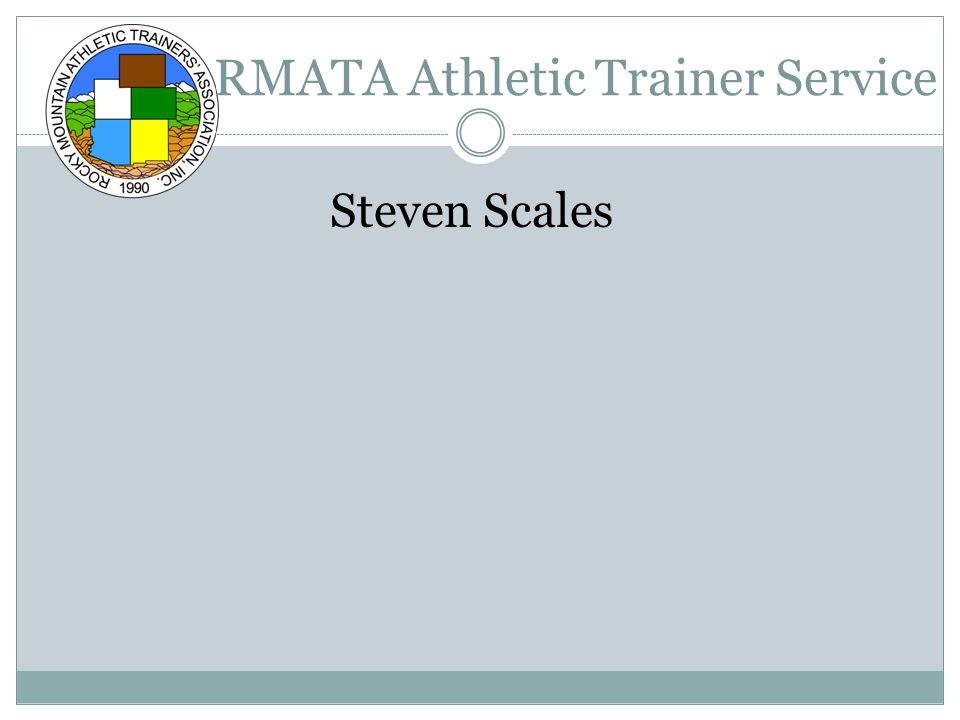 RMATA Athletic Trainer Service Steven Scales