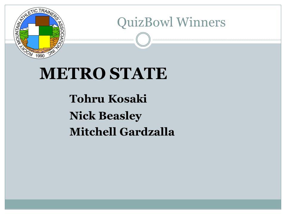 QuizBowl Winners METRO STATE Tohru Kosaki Nick Beasley Mitchell Gardzalla
