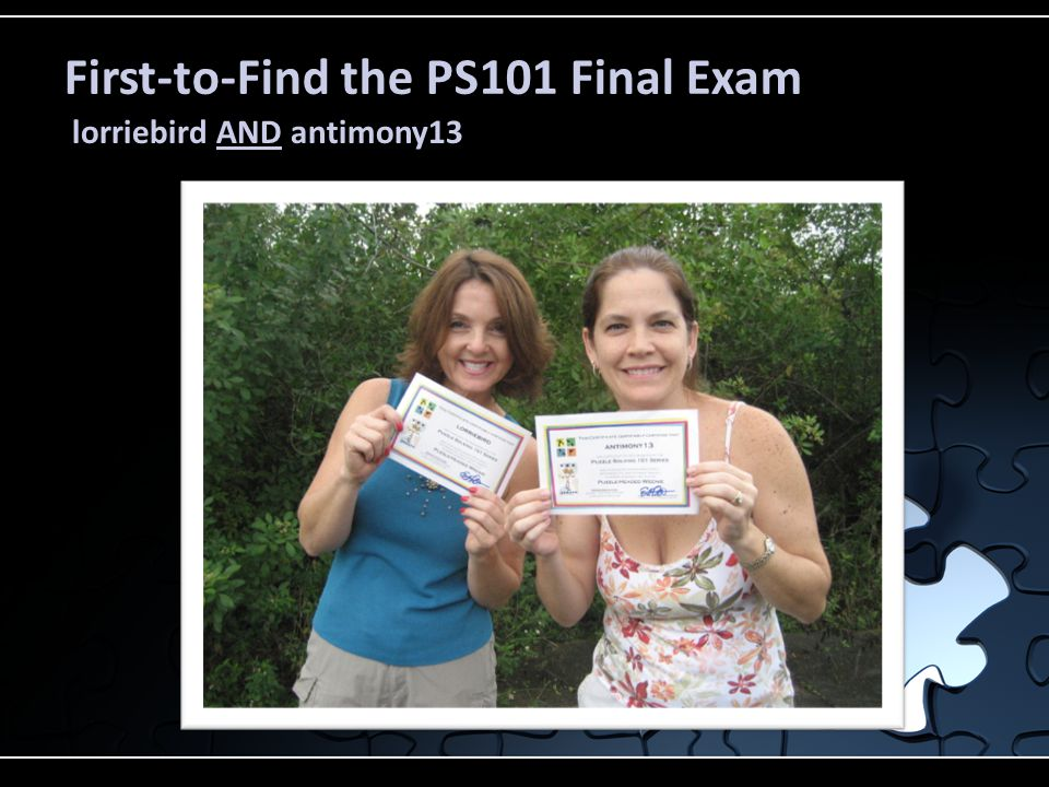 First-to-Find the PS101 Final Exam lorriebird AND antimony13