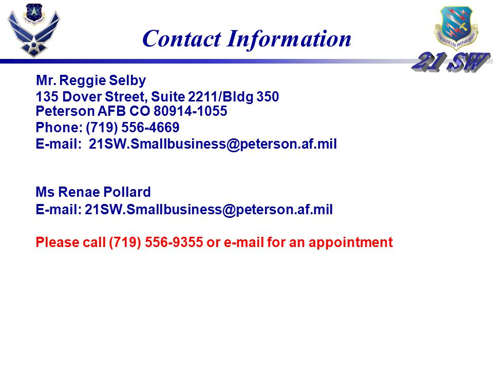 Contact Information Mr.