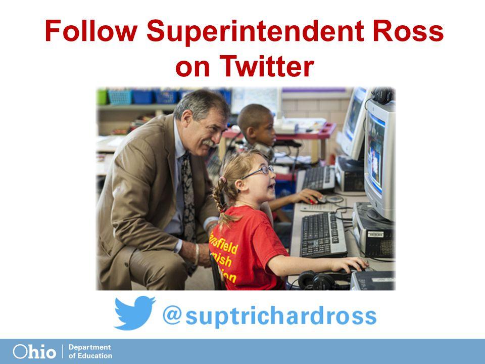 Follow Superintendent Ross on Twitter