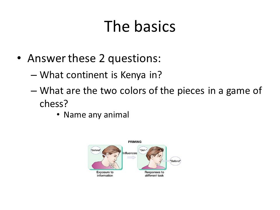 The basics Answer these 2 questions: – What continent is Kenya in.