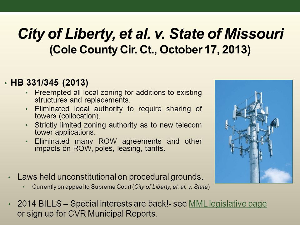 City of Liberty, et al. v. State of Missouri (Cole County Cir.