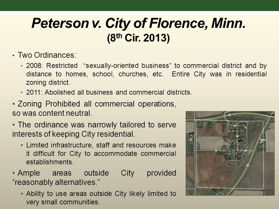 Peterson v. City of Florence, Minn. (8 th Cir.