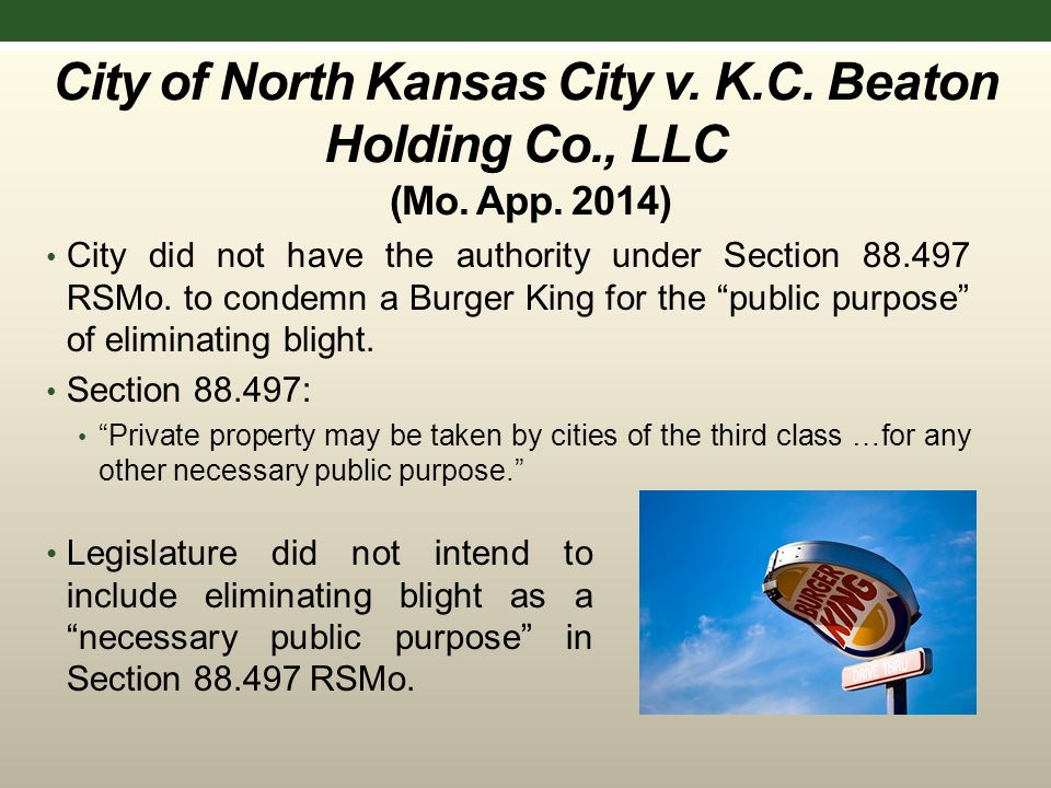 City of North Kansas City v. K.C. Beaton Holding Co., LLC (Mo.