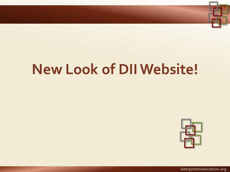 New Look of DII Website!
