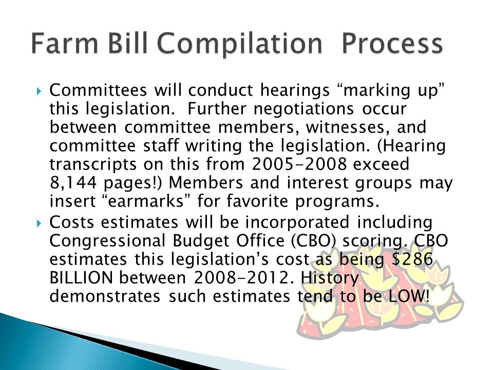  Committees will conduct hearings marking up this legislation.