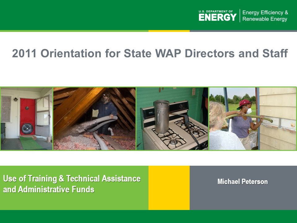 2 | Weatherization Assistance Program: Use of Training &Technical Assistance and Administrative Fundseere.energy.gov  10 CFR 440 – Weatherization Program Regulations –See 10 CFR 440.18 (d)  Weatherization Program Notice 11-1 – Guidance Document –See Sections 1.4 and 5.21  Not more than 10% of any grant funds may be used by the grantee and subgrantees for administrative purposes.