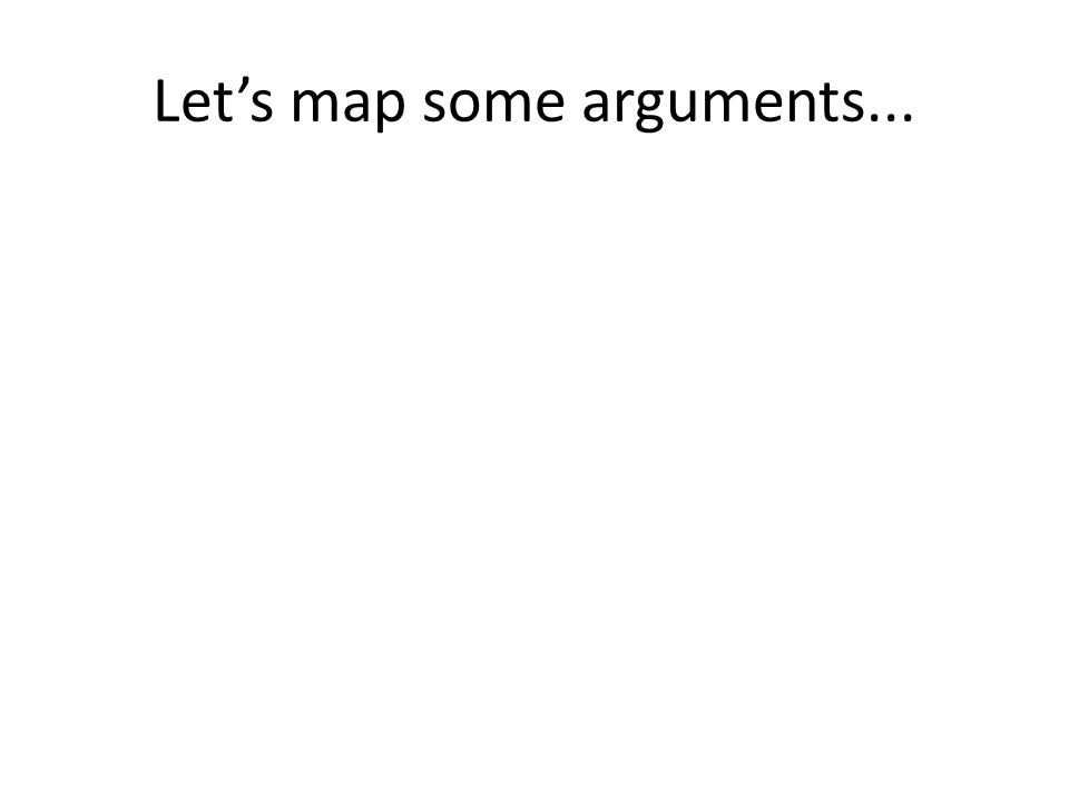 Let's map some arguments...