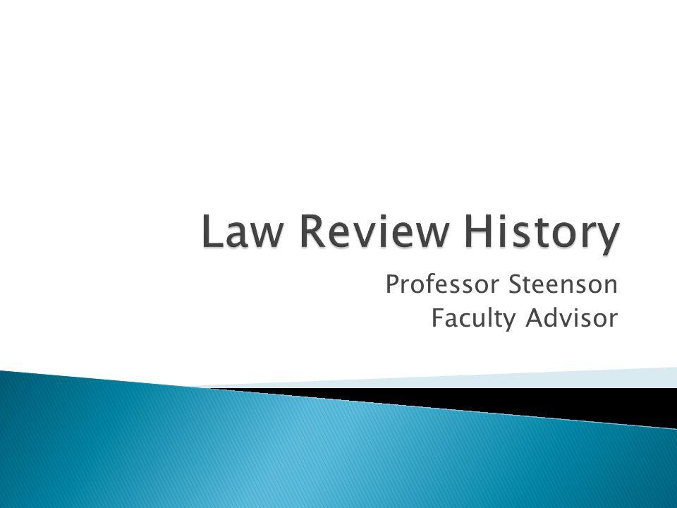 Professor Steenson Faculty Advisor