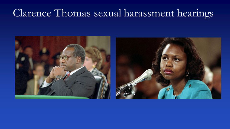 Clarence Thomas sexual harassment hearings