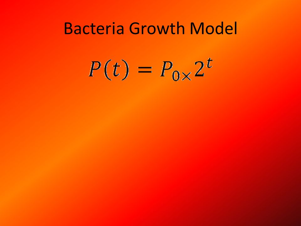 Examples of the Bacteria Growth Model Plaque (bacteria on the tooth) can build up on the teeth if the toothbrush or floss does not reach a certain section of the tooth.