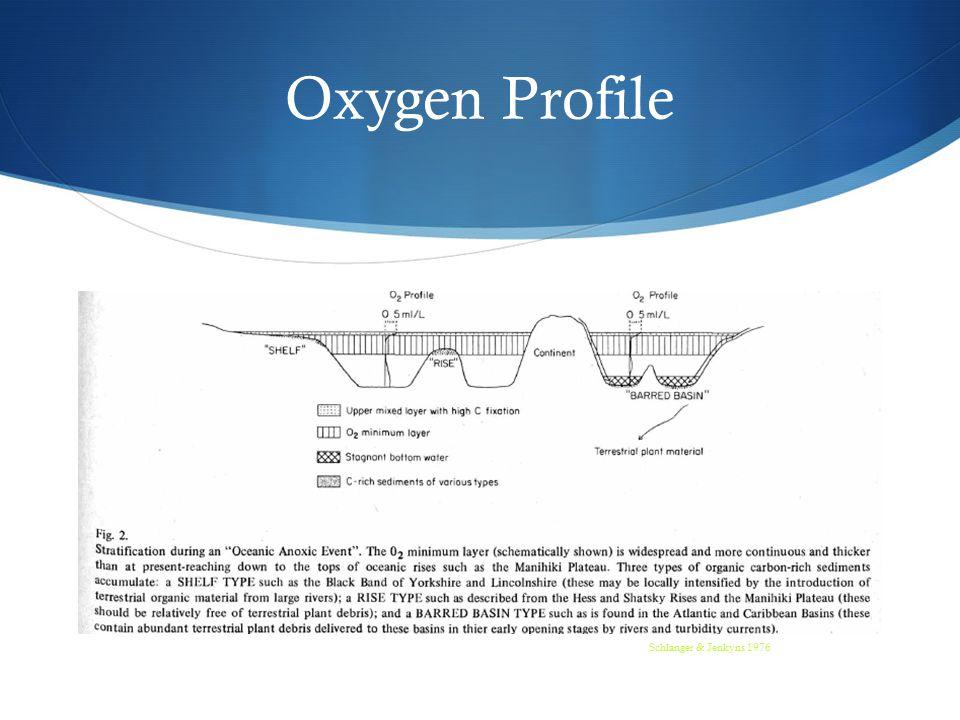 Oxygen Profile Schlanger & Jenkyns 1976