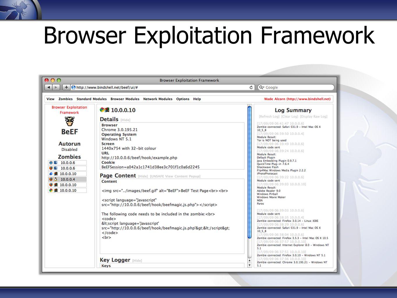 Browser Exploitation Framework