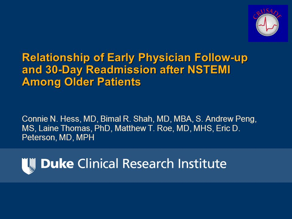 Unadjusted 30-day readmission by hospital-level early physician follow-up 30-day readmission (%) p = 0.13