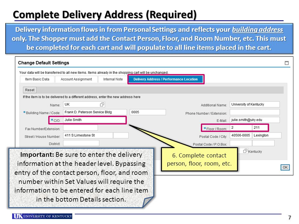 Set Account Assignment (Optional) 7. Click Account Assignment 8