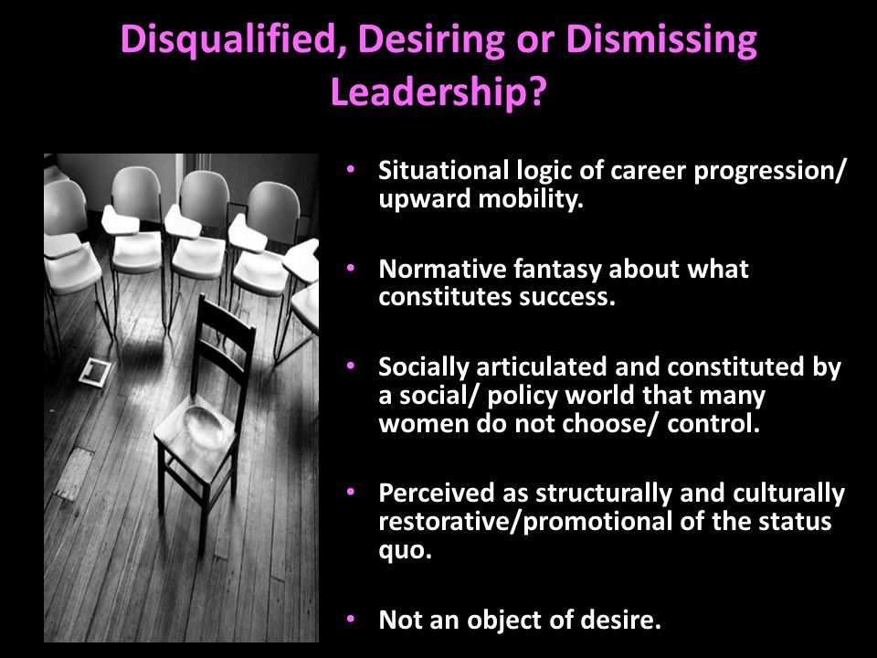 Disqualified, Desiring or Dismissing Leadership.