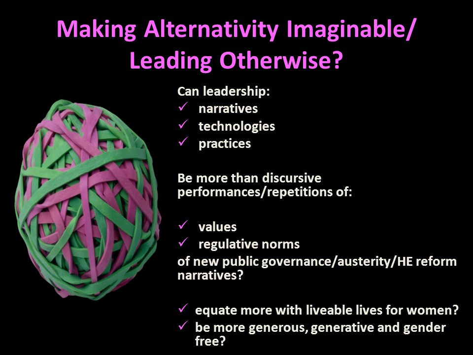 Making Alternativity Imaginable/ Leading Otherwise.
