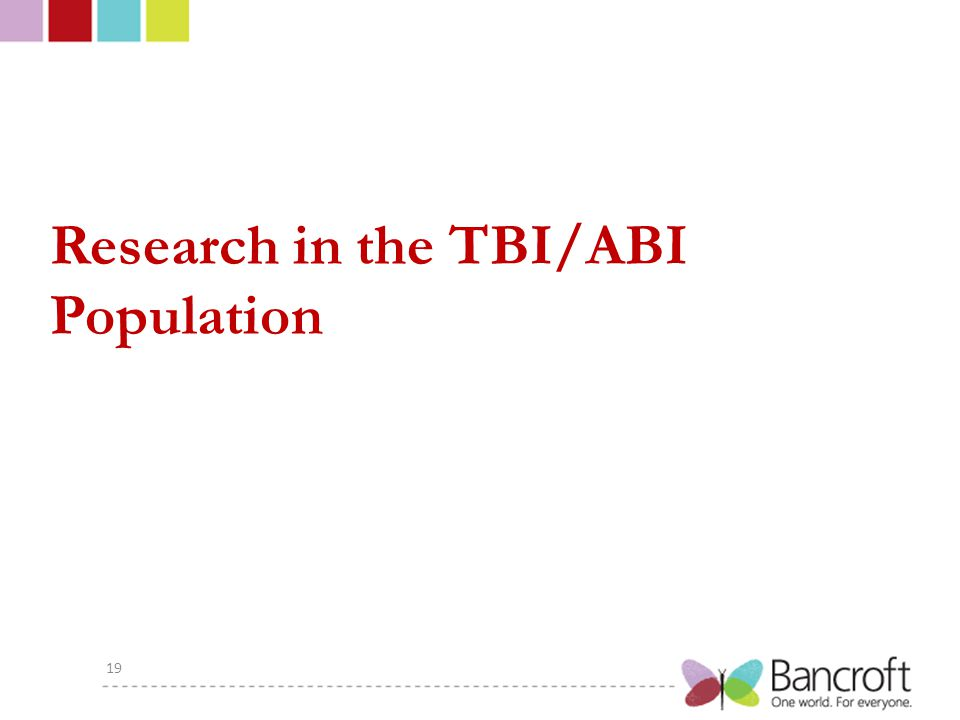 Research in the TBI/ABI Population 19