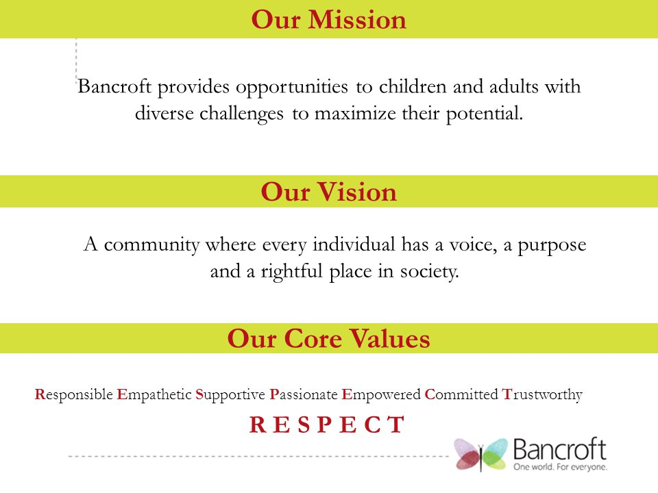Bancroft provides opportunities to children and adults with diverse challenges to maximize their potential.