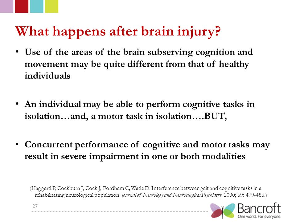 What happens after brain injury.