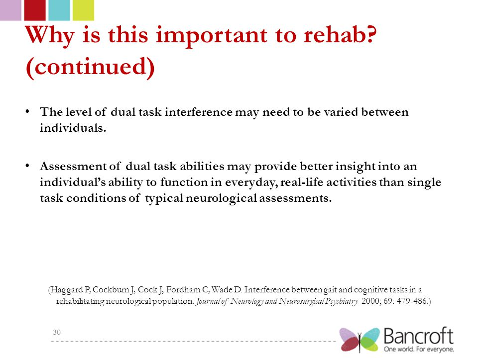 Why is this important to rehab.