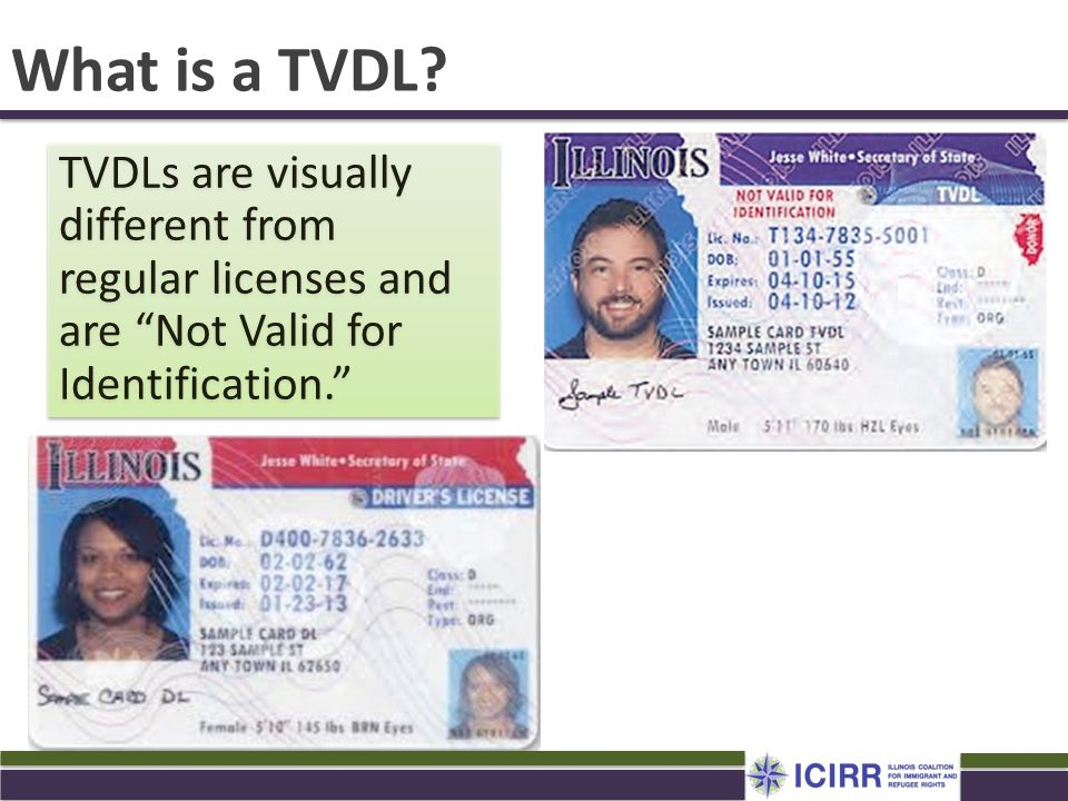 "TVDLs are visually different from regular licenses and are ""Not Valid for Identification."" What is a TVDL?"