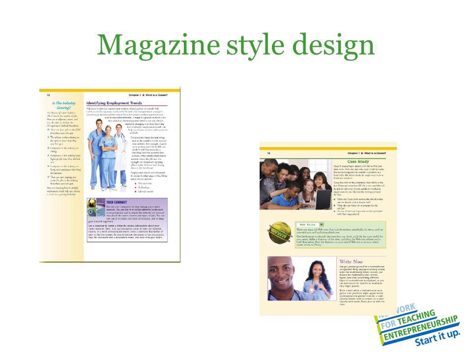Magazine style design