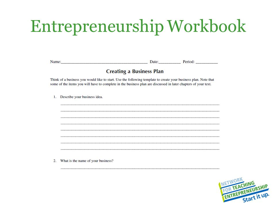Entrepreneurship Workbook