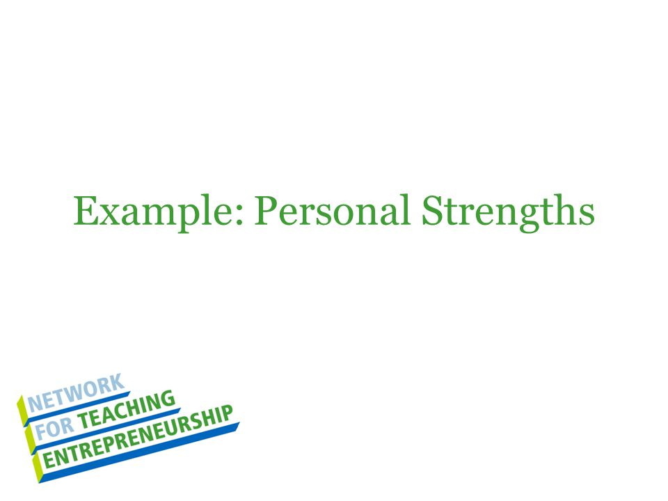 Example: Personal Strengths