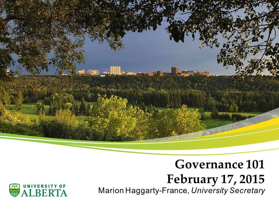 Governance 101 February 17, 2015