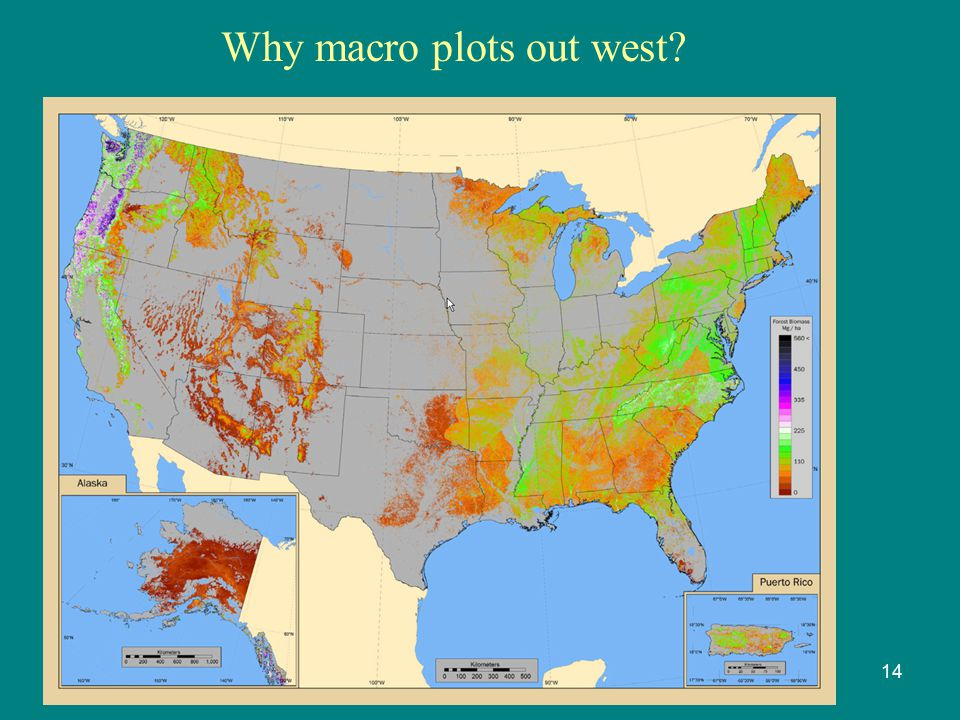 Why macro plots out west? 14