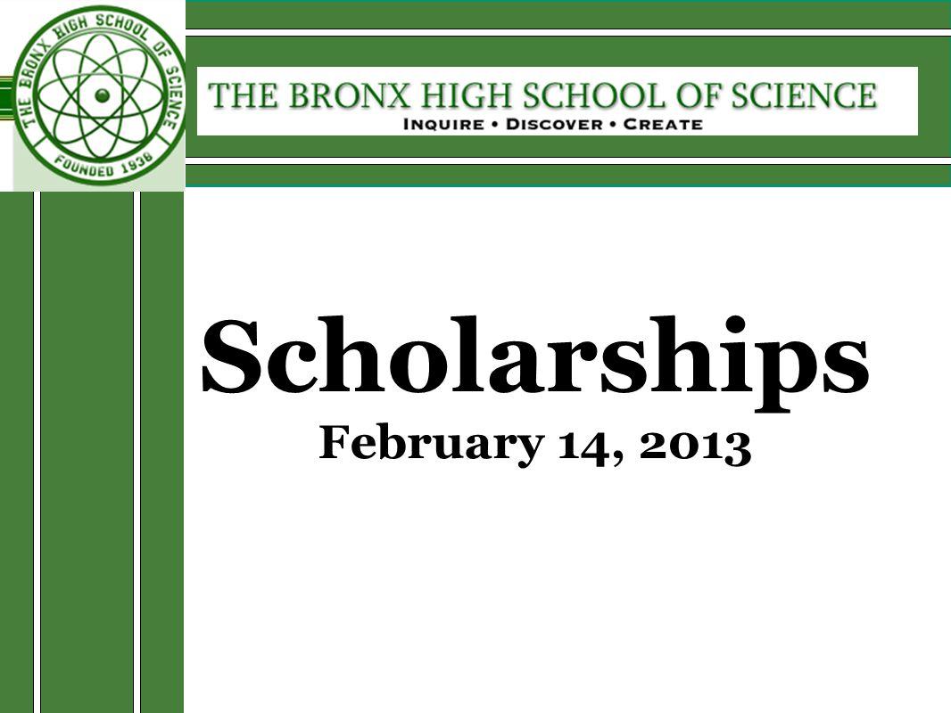 Scholarships February 14, 2013