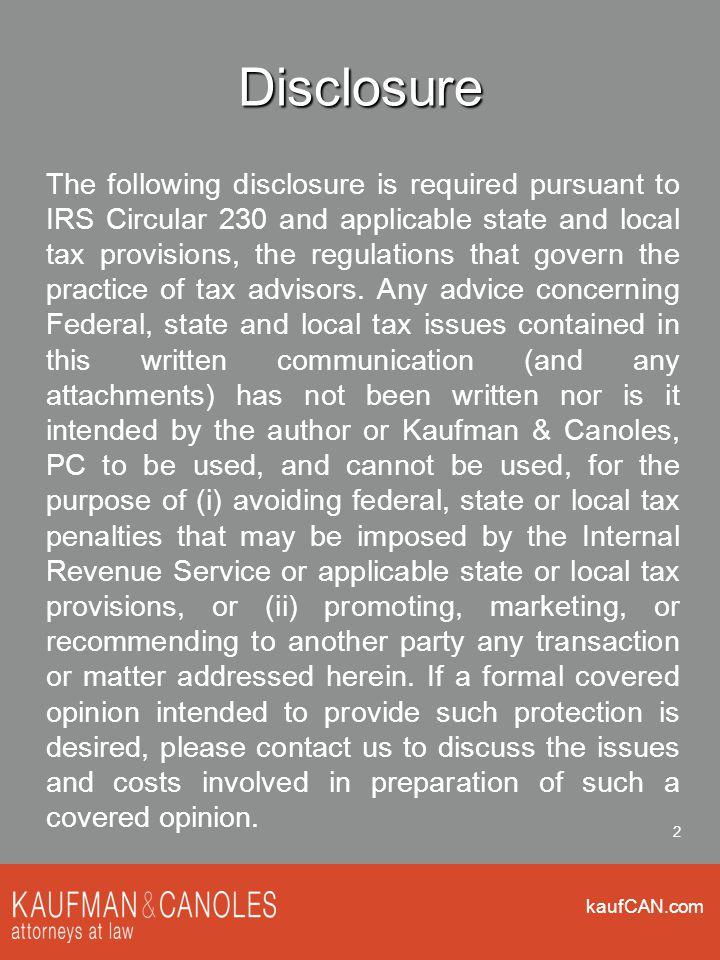 kaufCAN.com 3 ACA Key Dates March 23, 2010- PPACA June 28, 2012- Supreme Court decision November 6, 2012- election December 28, 2012- employer mandate prop.