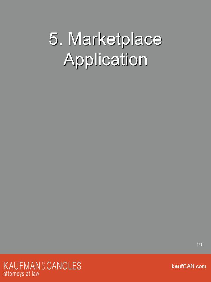 kaufCAN.com 88 5. Marketplace Application