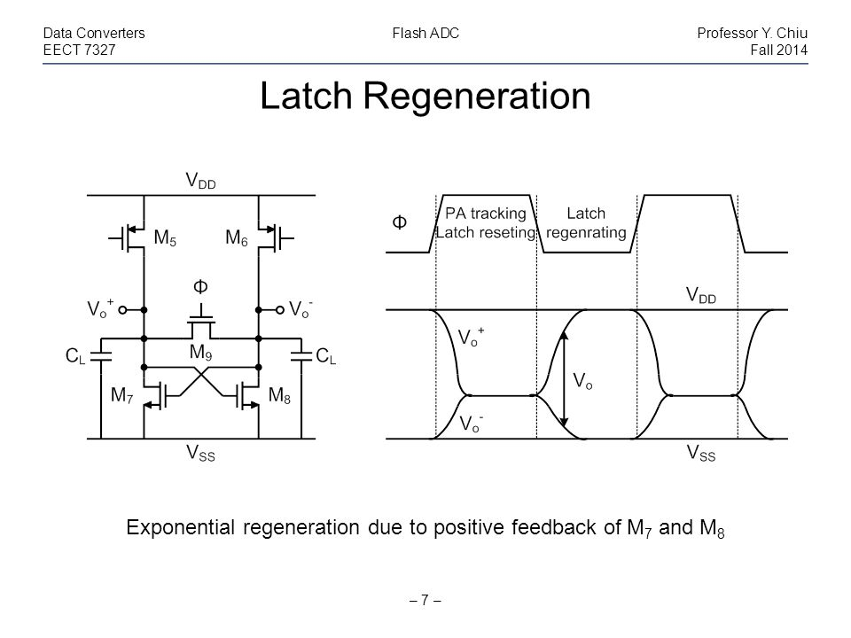 Latch Regeneration – 7 – Data ConvertersFlash ADCProfessor Y.