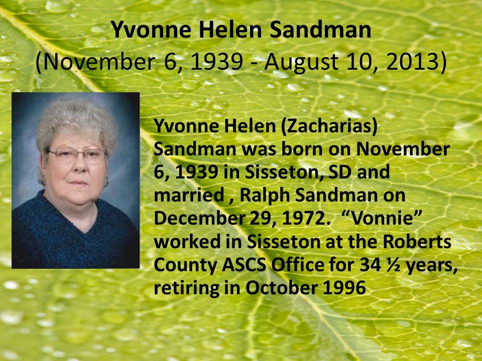 Roberta Bensen 9/5/1928-6/1/2013 Jean Bensen, 84, of Vermillion, SD passed away Saturday, June 1, 2013 at the Morningside Care Center in Alcester, SD.