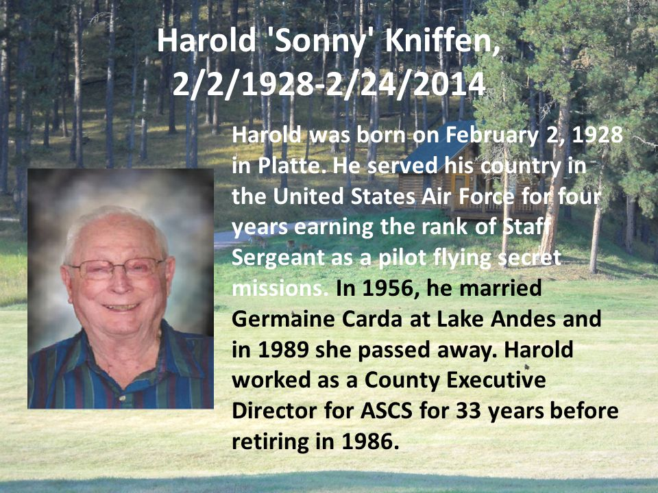 Darlene Moak July 2, 1935 – May 7, 2014 Darlene Moak, as an employee of the Campbell County Agricultural Stabilization Conservation Office in Mound City, was there during the infamous struggle to keep the Campbell County ASCS Office in Mound City in 1961 and '62.