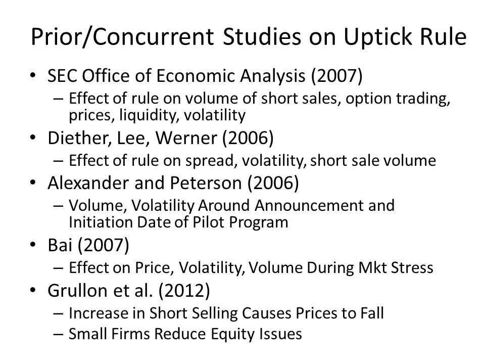 Summary of My Findings (2) What Kinds of Firms Most Responsive to Short Selling Effects.