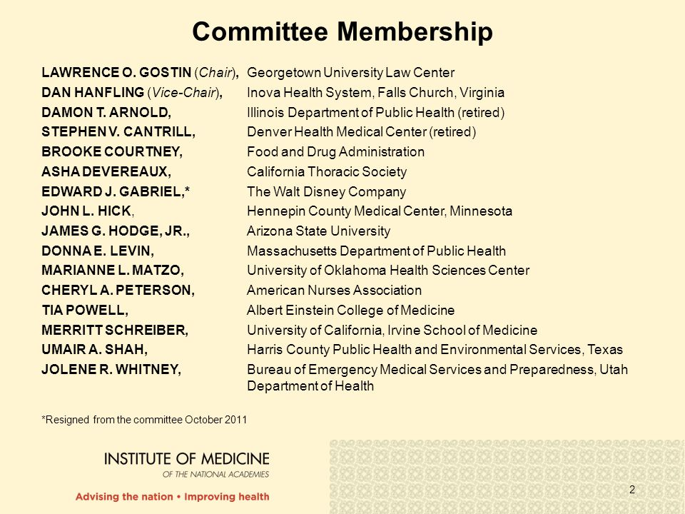 2 Committee Membership LAWRENCE O.