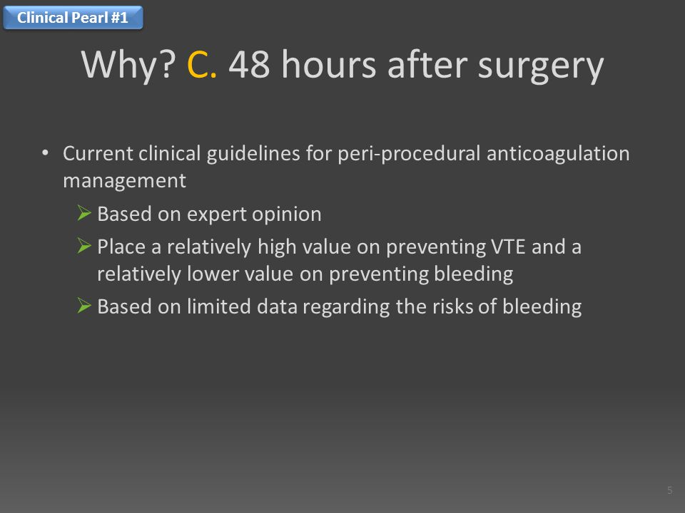 OBJECTIVE: to determine the 3 month cumulative incidence and independent predictors of peri-procedural bleeding in chronically anticoagulated patients requiring temporary warfarin interruption for an invasive procedure Evidence Predictors of major bleeding in peri-procedural anticoagulation management.