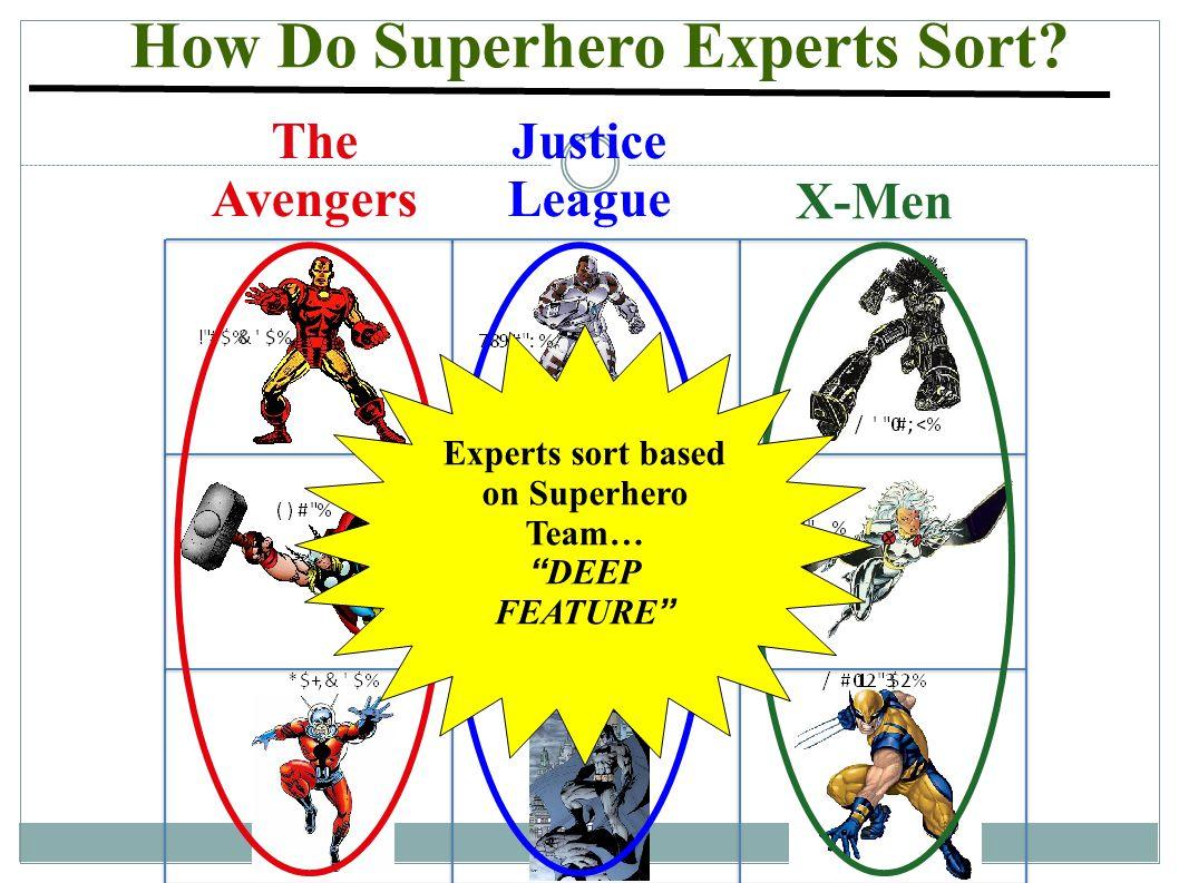How Do Superhero Experts Sort.