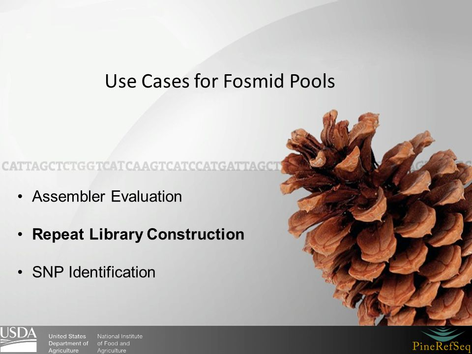 Use Cases for Fosmid Pools Assembler Evaluation Repeat Library Construction SNP Identification