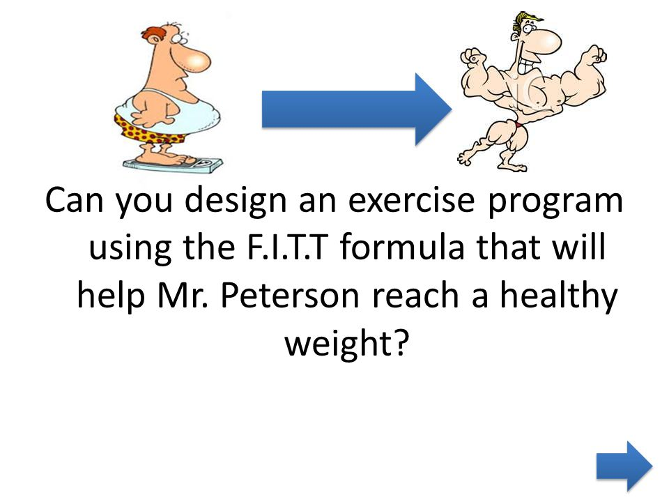 Can you design an exercise program using the F.I.T.T formula that will help Mr.